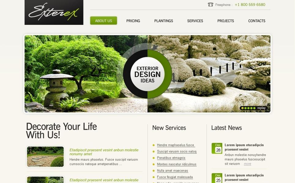 Landscape Design SWiSH Template New Screenshots BIG