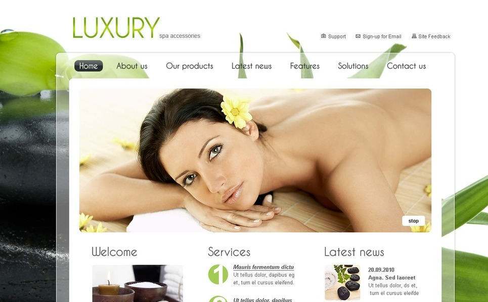 Beauty Salon SWiSH Template New Screenshots BIG