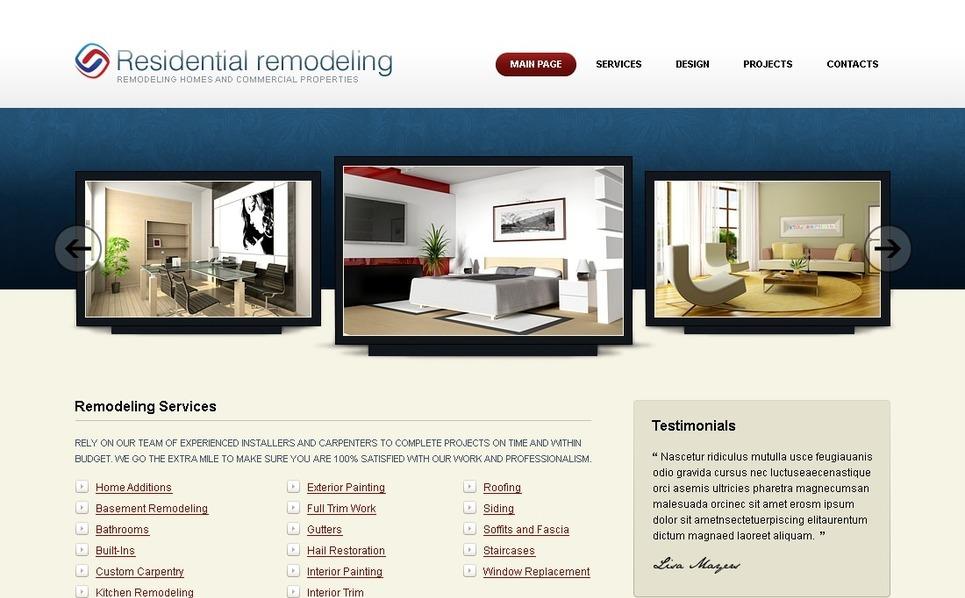 Home Remodeling SWiSH Template New Screenshots BIG