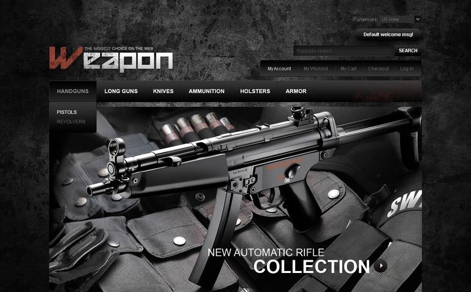 Gun Shop Magento Theme New Screenshots BIG