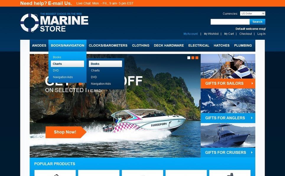 Yachting Magento Theme New Screenshots BIG