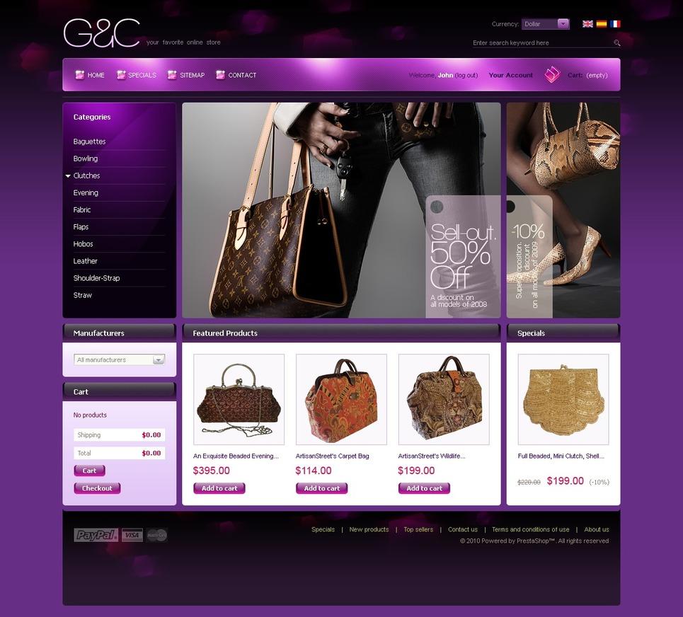 Purple Women Store PrestaShop Theme New Screenshots BIG