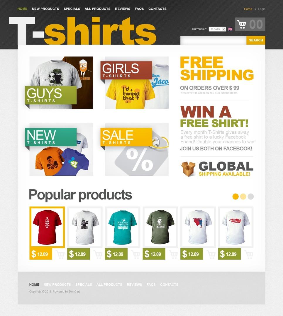 T shirt shop online