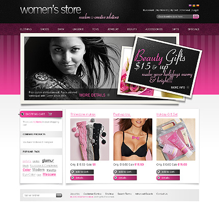 Women's store - Beautiful Magento Fashion Store Theme