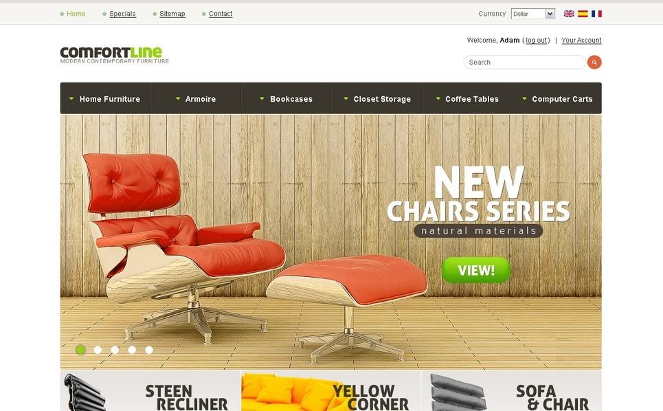 Comfortable Chairs PrestaShop Theme New Screenshots BIG