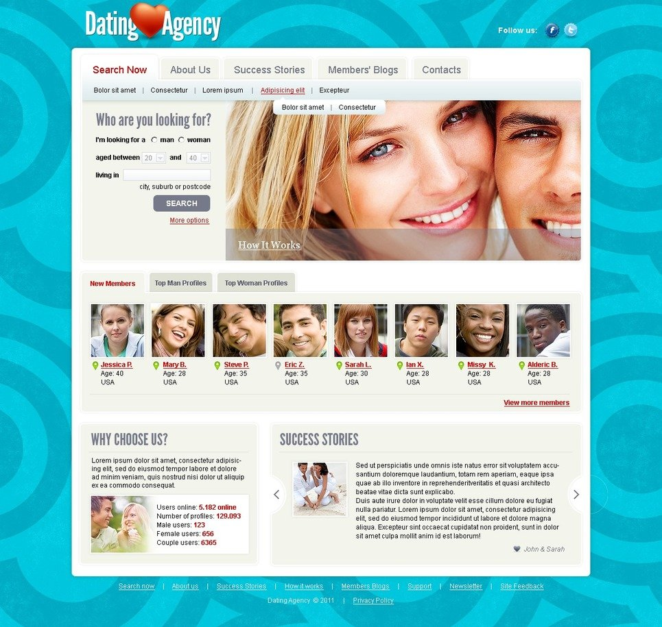 dating site template joomla download