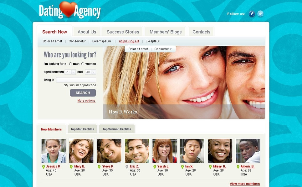 Dating Joomla Template New Screenshots BIG
