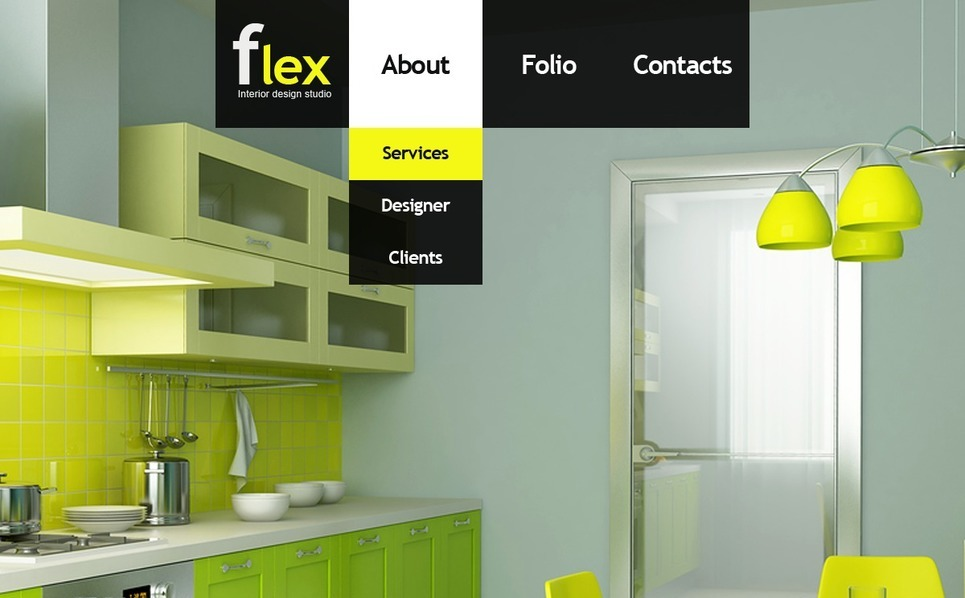 Interior Design Facebook Flash CMS Template New Screenshots BIG