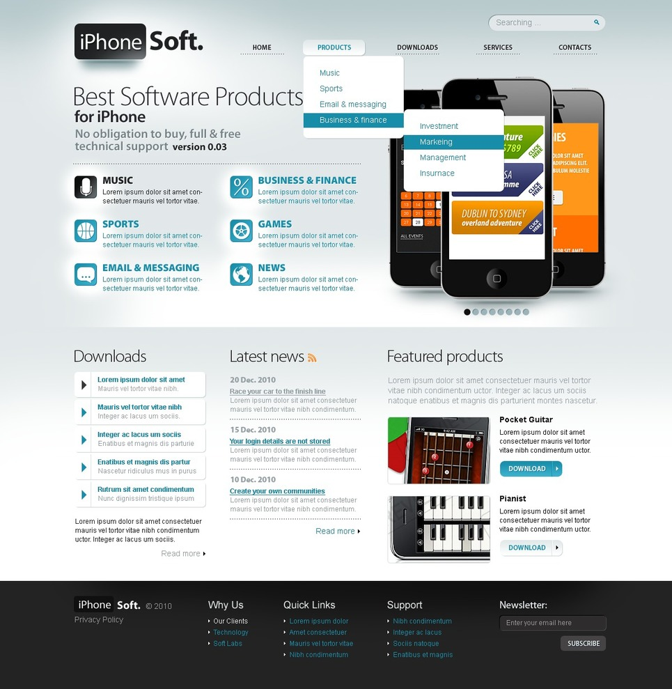 Software Store Website Template New Screenshots BIG