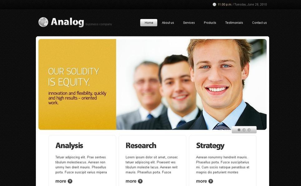 Consulting Website Template New Screenshots BIG