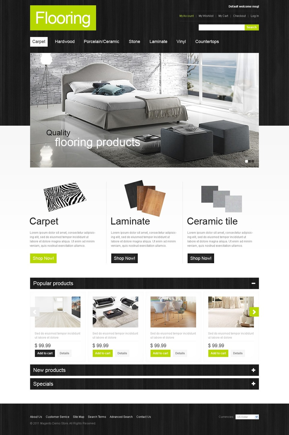 Flooring Magento Theme New Screenshots BIG