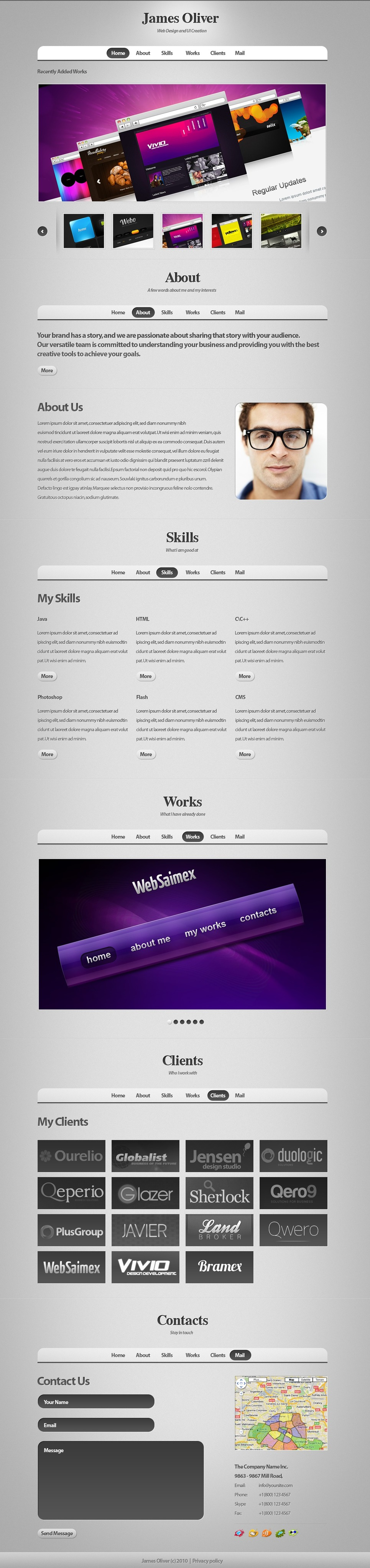 Designer Portfolio WordPress Theme New Screenshots BIG