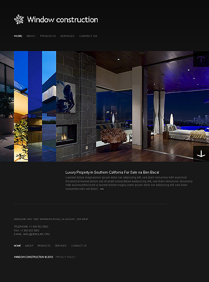 Windows & Doors Website Template CSS photoshop