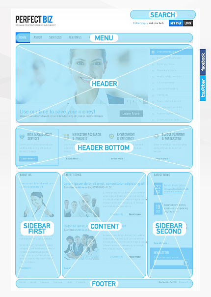Website Template #34025