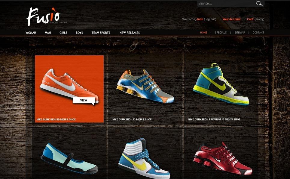Footwear&Shoes PrestaShop Theme New Screenshots BIG