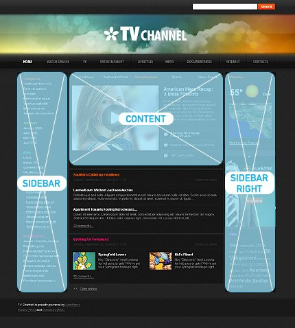 Website template 34098 (TM #34098) - WordPress Themes - special ...
