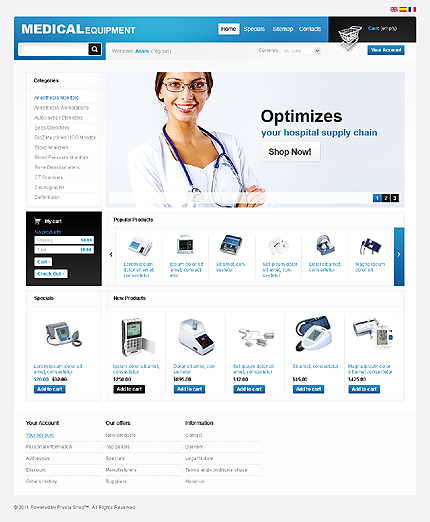 Medical equipment - Clean Online Medical Store PrestaShop Theme