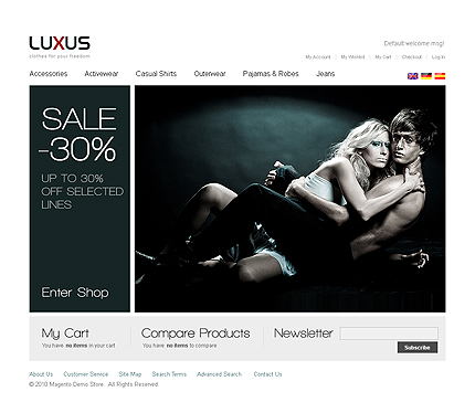 Luxus - Excellent Magento Fashion Store Theme