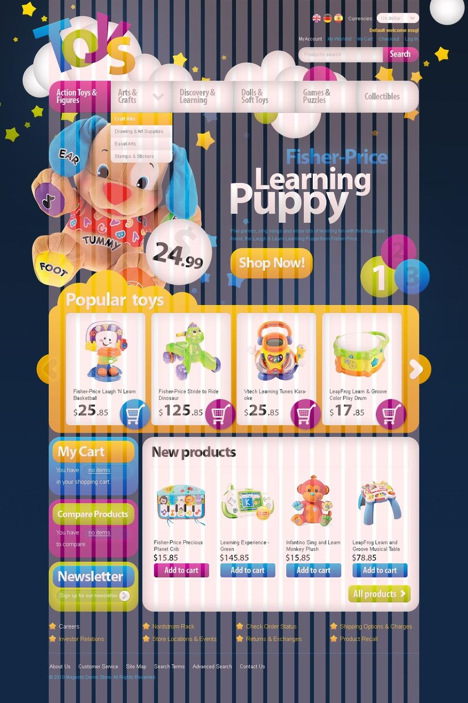 Toy Store Magento Theme New Screenshots BIG