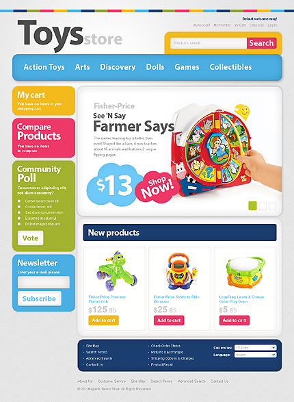 Toys store - Innovative Toy Store Magento Theme