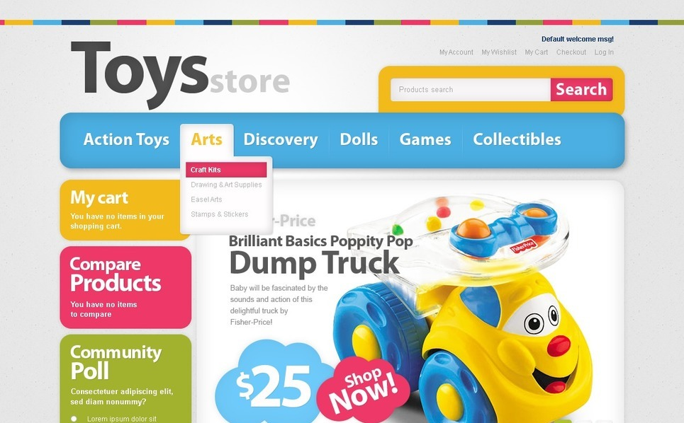 Toy Store Magento Theme New Screenshots BIG