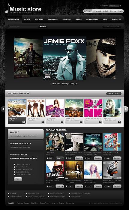 Music store - Refreshing Music Store Magento Theme