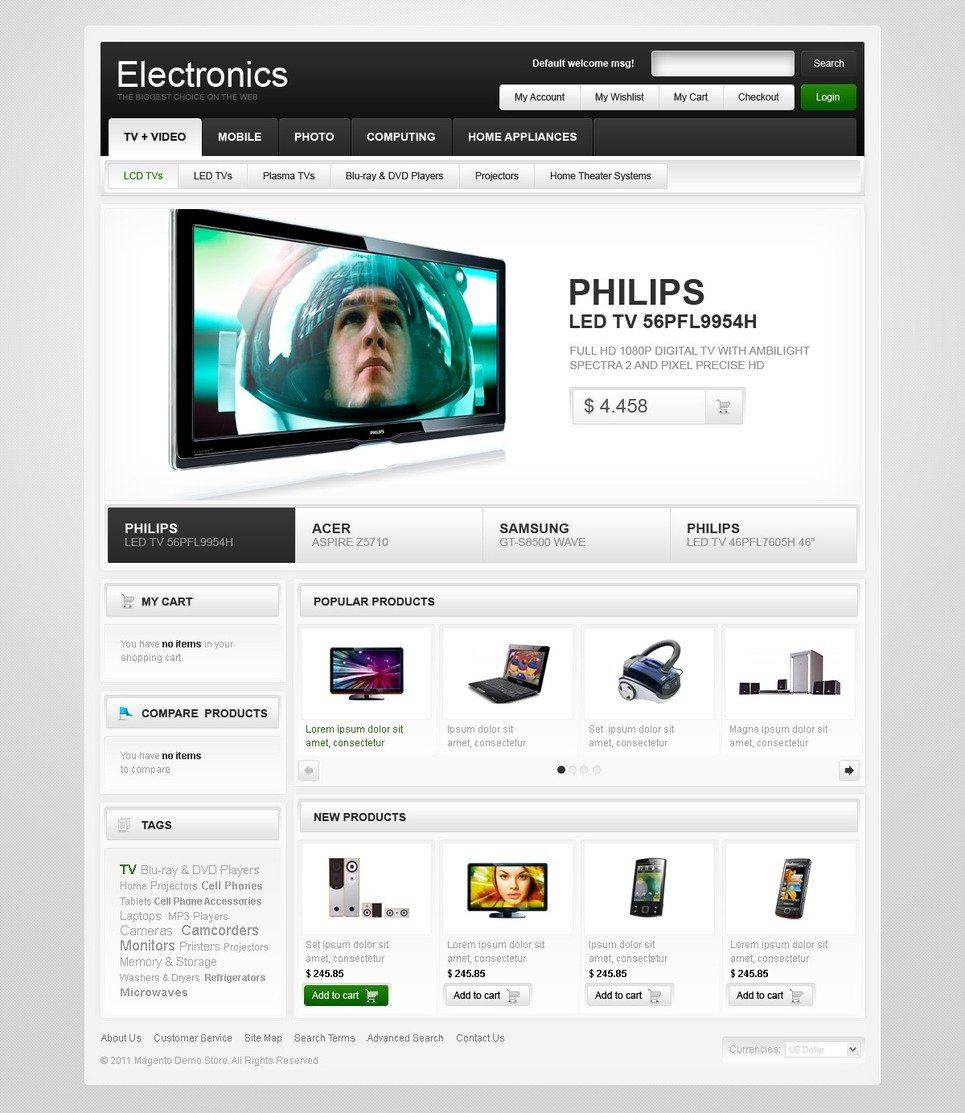 Admirable Electronics Store Magento Theme