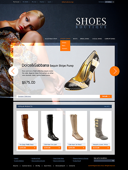 Shoes boutique - Best Footwear Store Magento Template