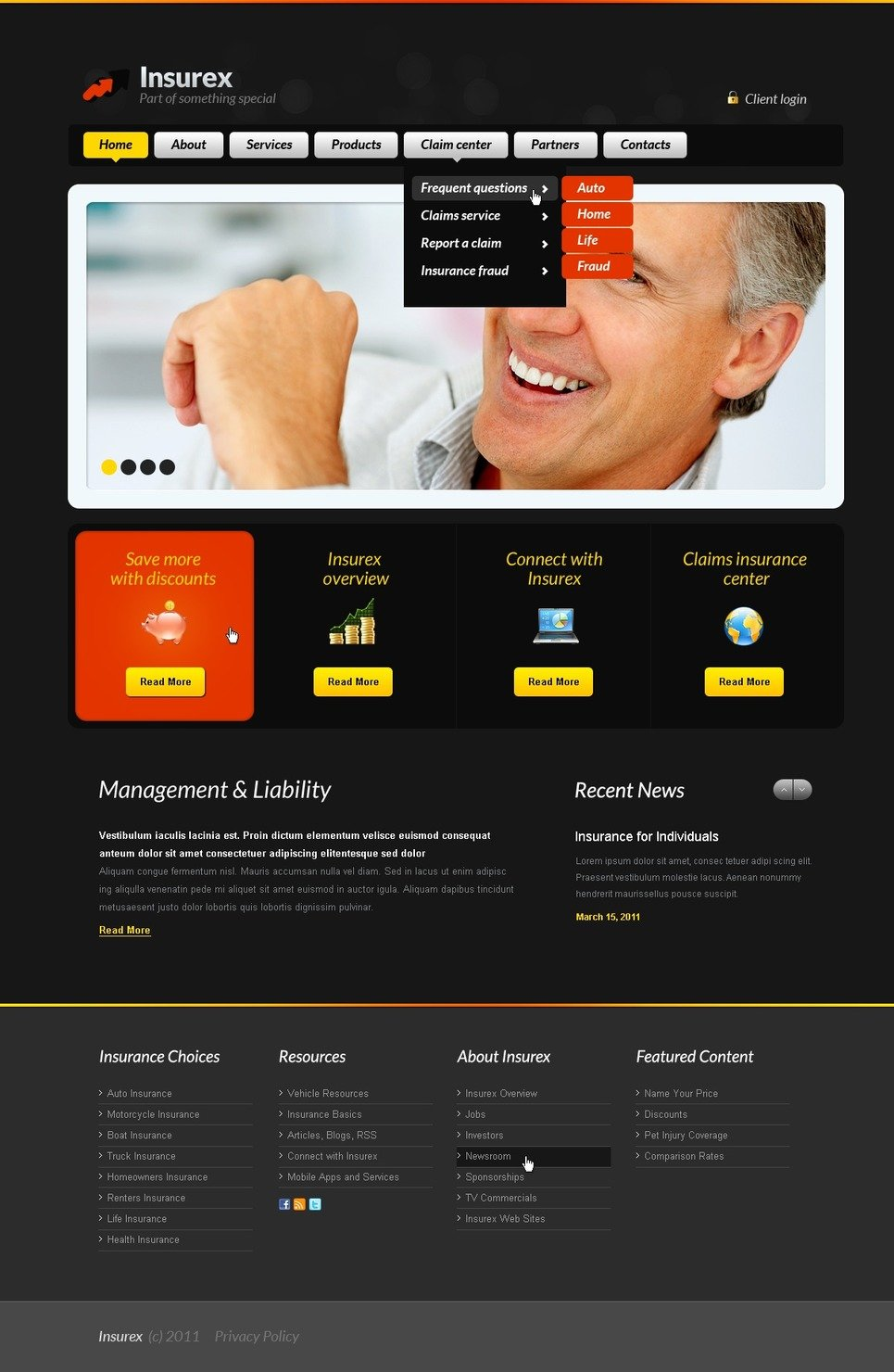 Insurance Website Template New Screenshots BIG
