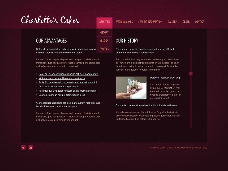 Sweet Shop Flash CMS Template New Screenshots BIG