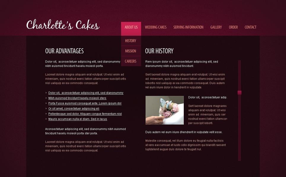 Sweet Shop Flash CMS Template New Screenshots BIG