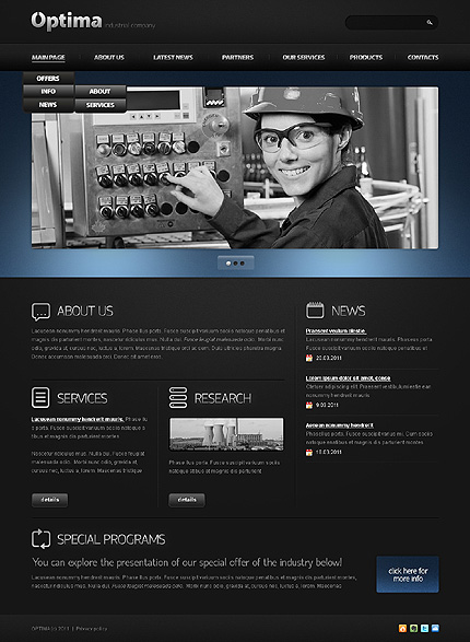 Website Template #34220