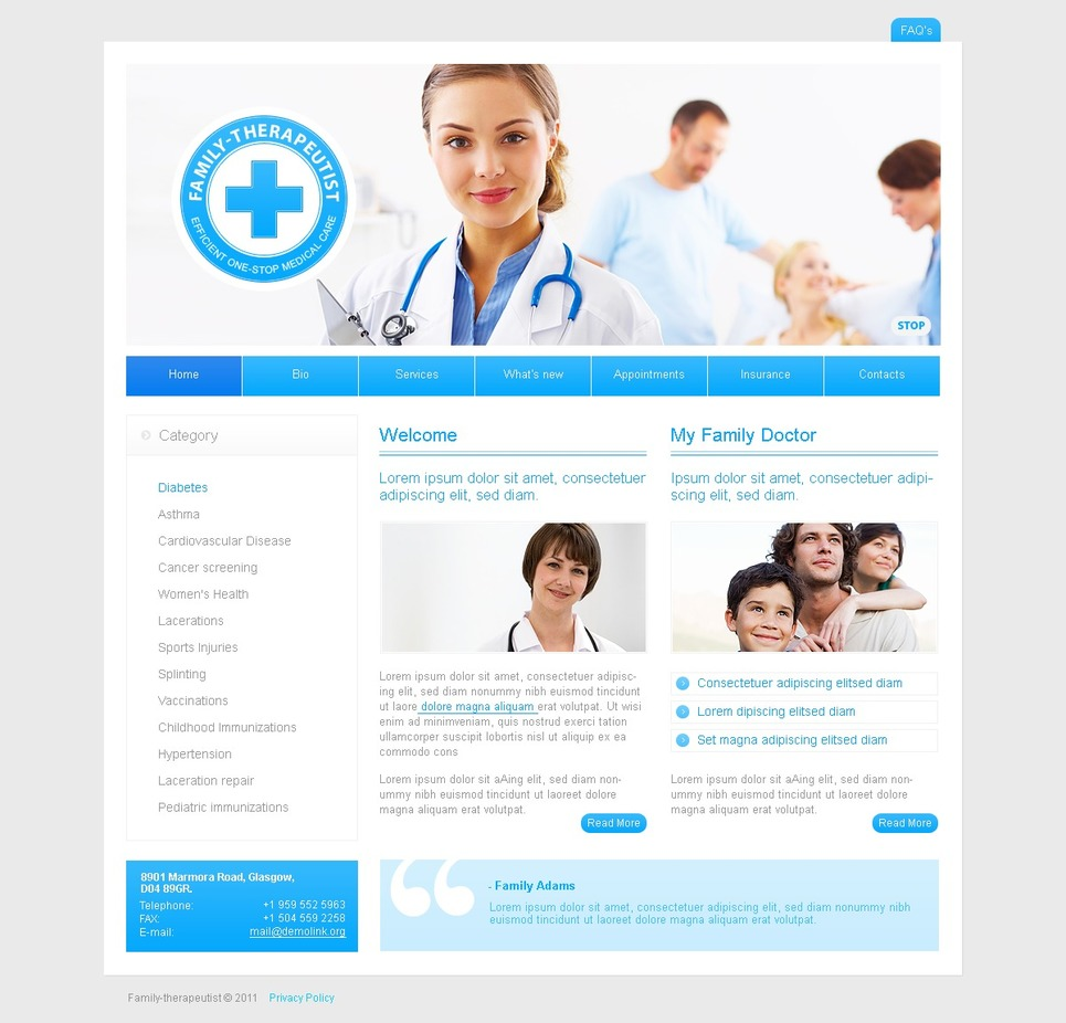 Medical SWiSH Template New Screenshots BIG