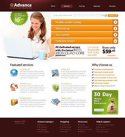 Website Template #34307