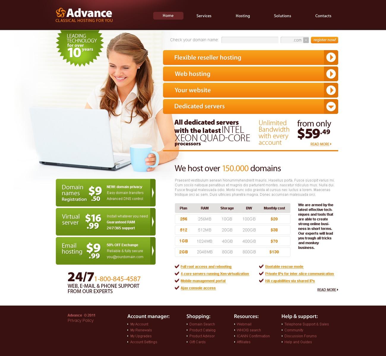 Modello siti web per un sito di hosting for Siti web di costruzione domestica