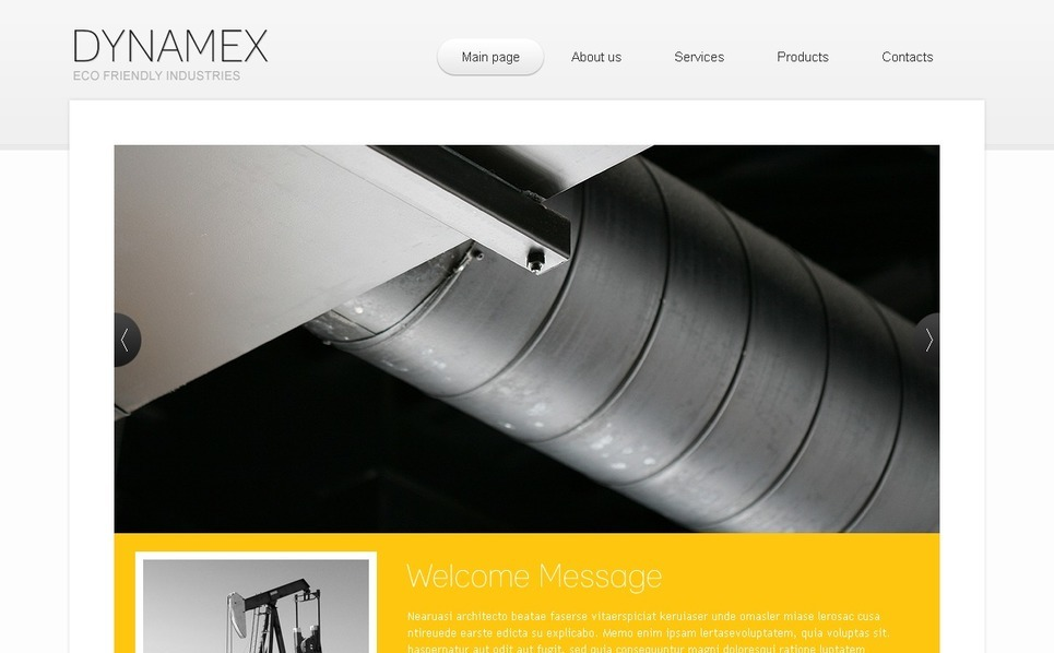 Industrial Website Template New Screenshots BIG
