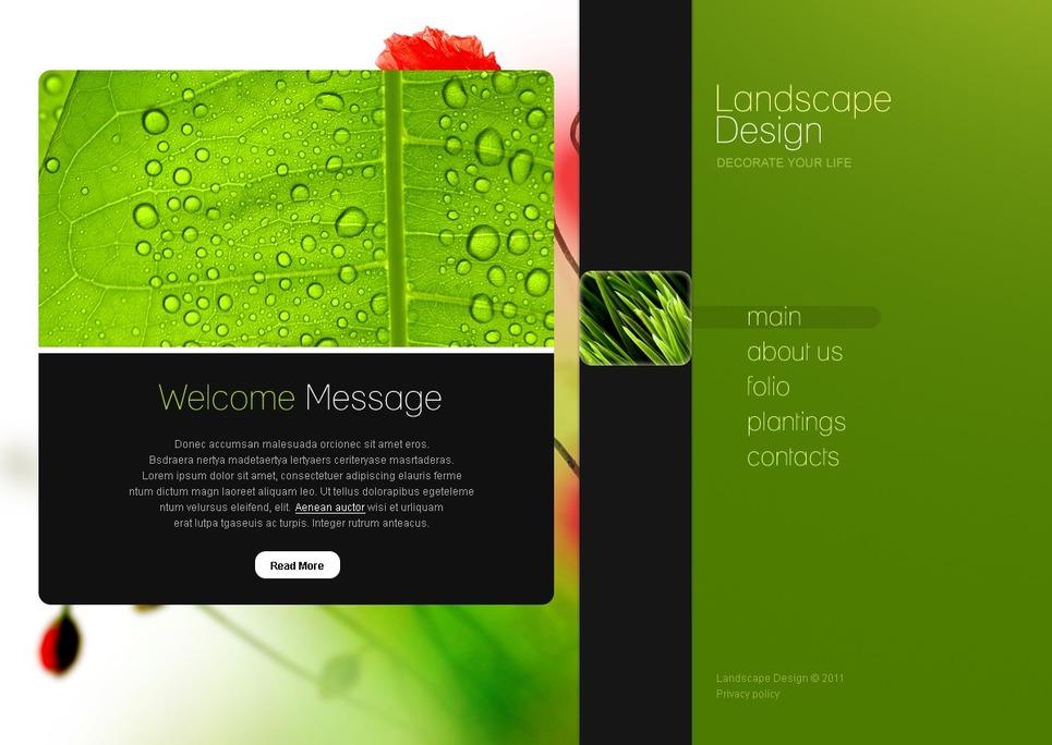 Landscape design website template 34360 for Garden design questions