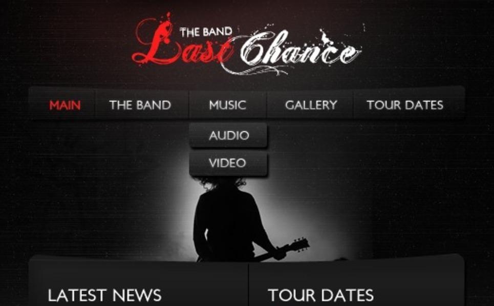 Music Band Turnkey CMS Facebook Template New Screenshots BIG