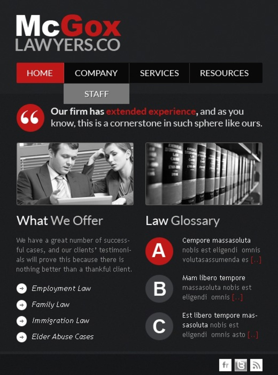 Lawyer Turnkey CMS Facebook Template New Screenshots BIG