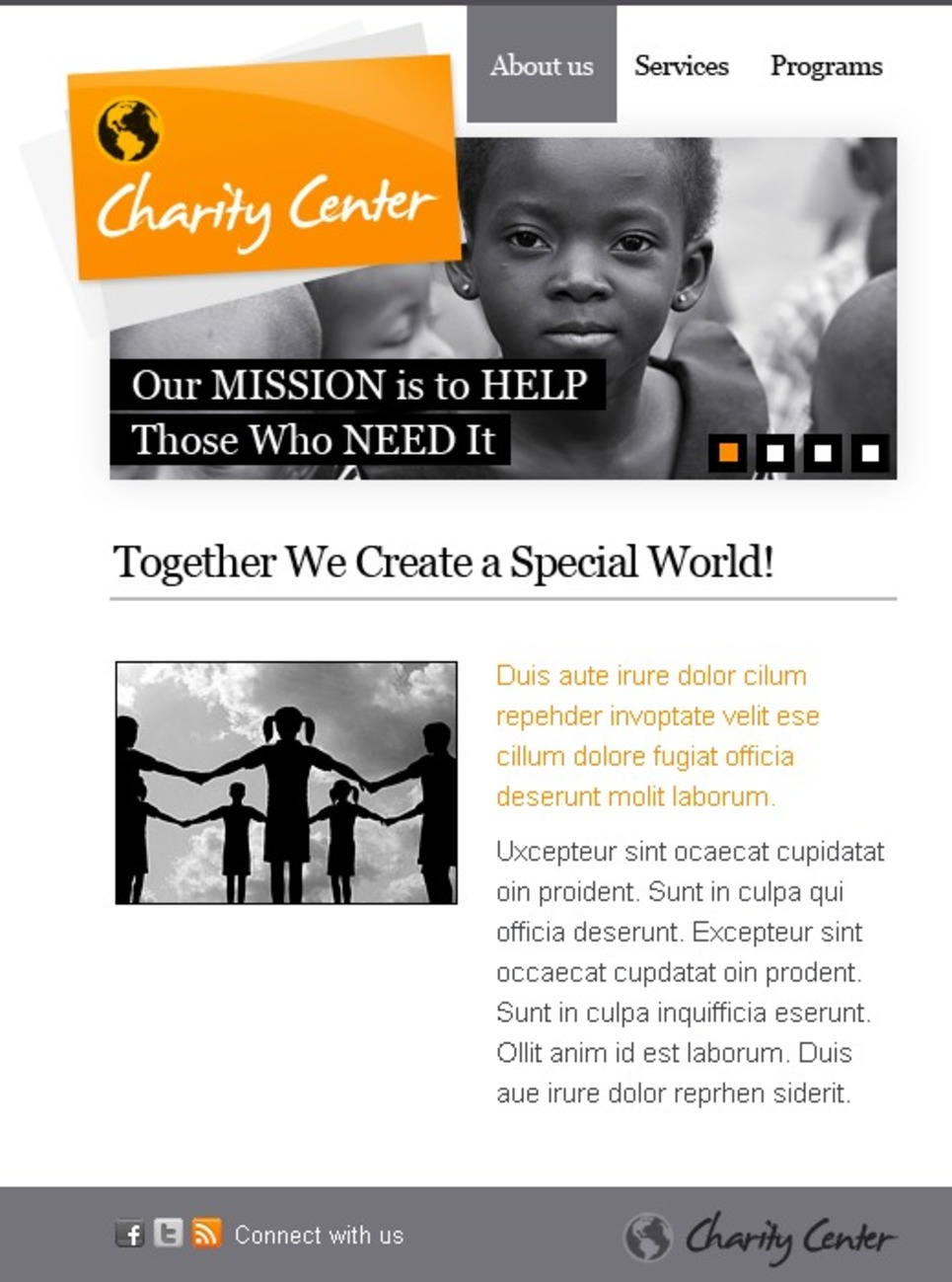 Child Charity Turnkey CMS Facebook Template New Screenshots BIG