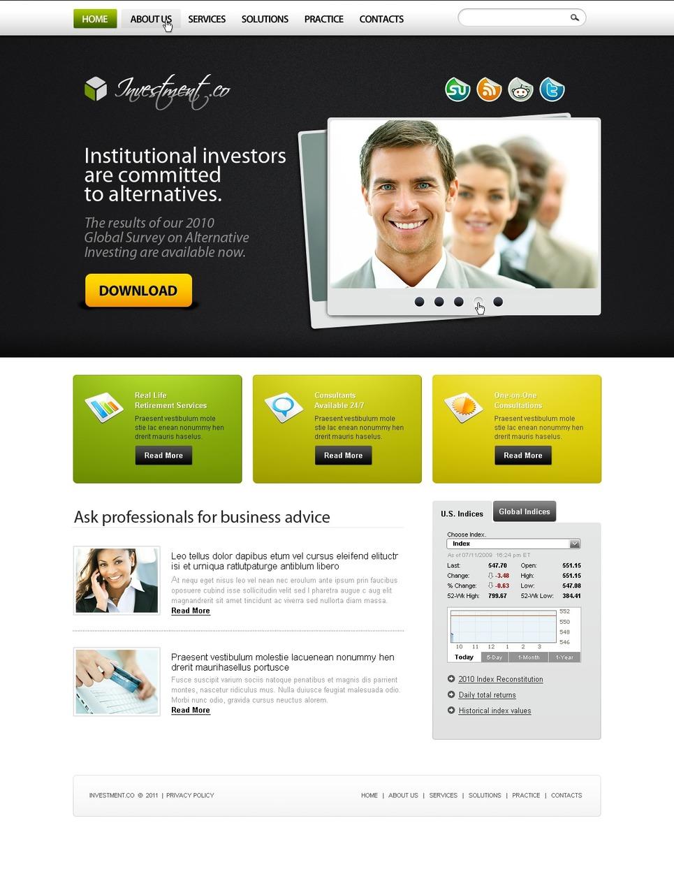 Investment Company Turnkey Website 2.0 New Screenshots BIG