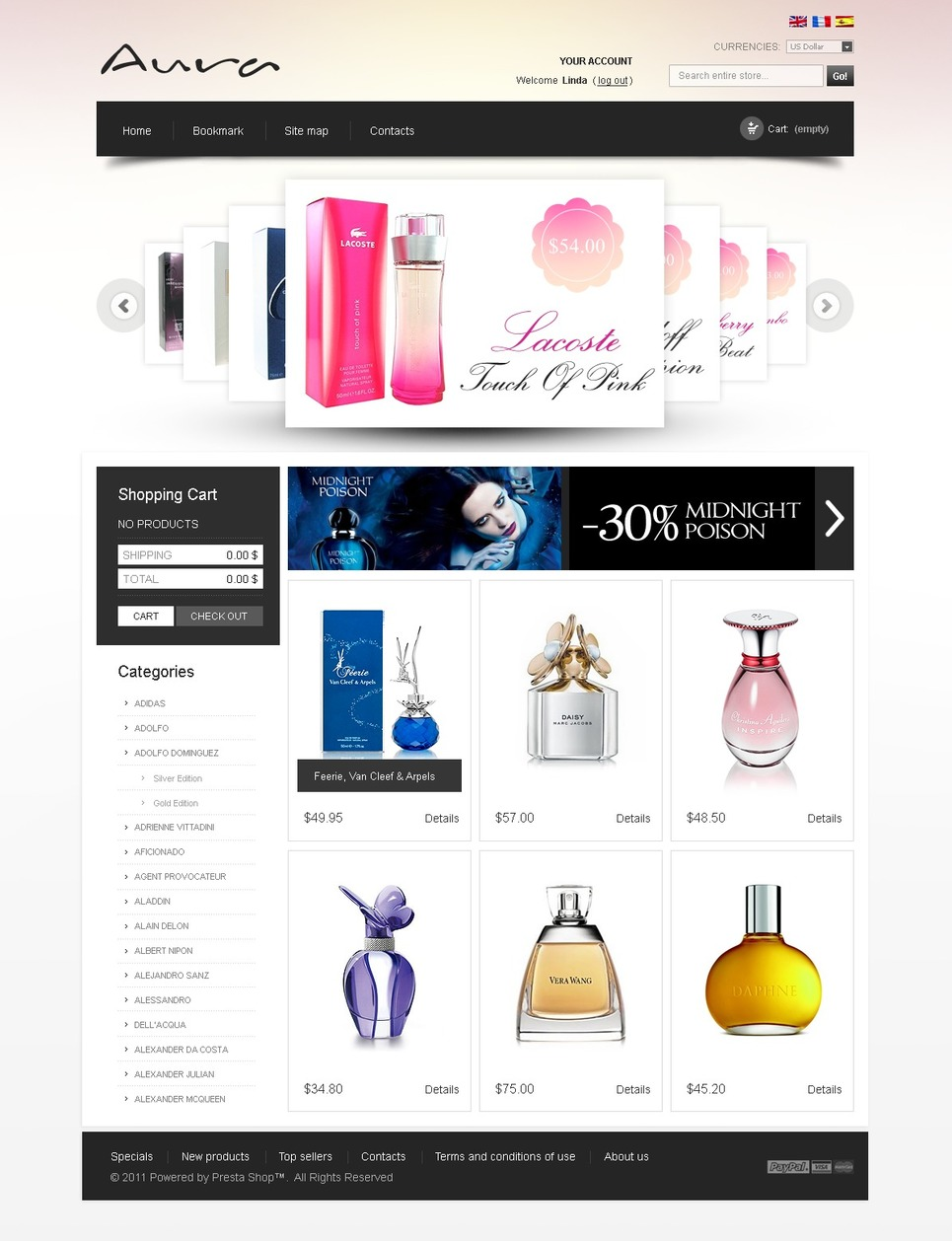 Perfume & Fragrance PrestaShop Theme New Screenshots BIG
