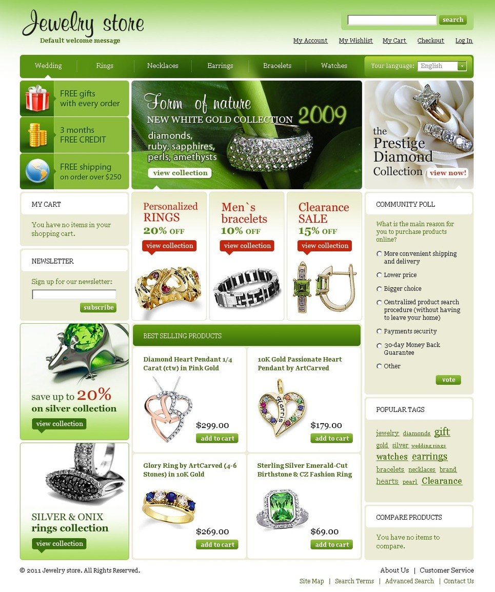 Jewelry Magento Theme New Screenshots BIG
