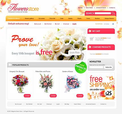Flower store - Lovely Florist Store Magento Theme