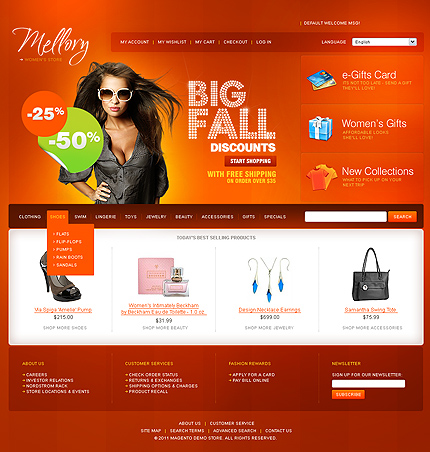 Mellory - Wonderful Magento Fashion Store Theme