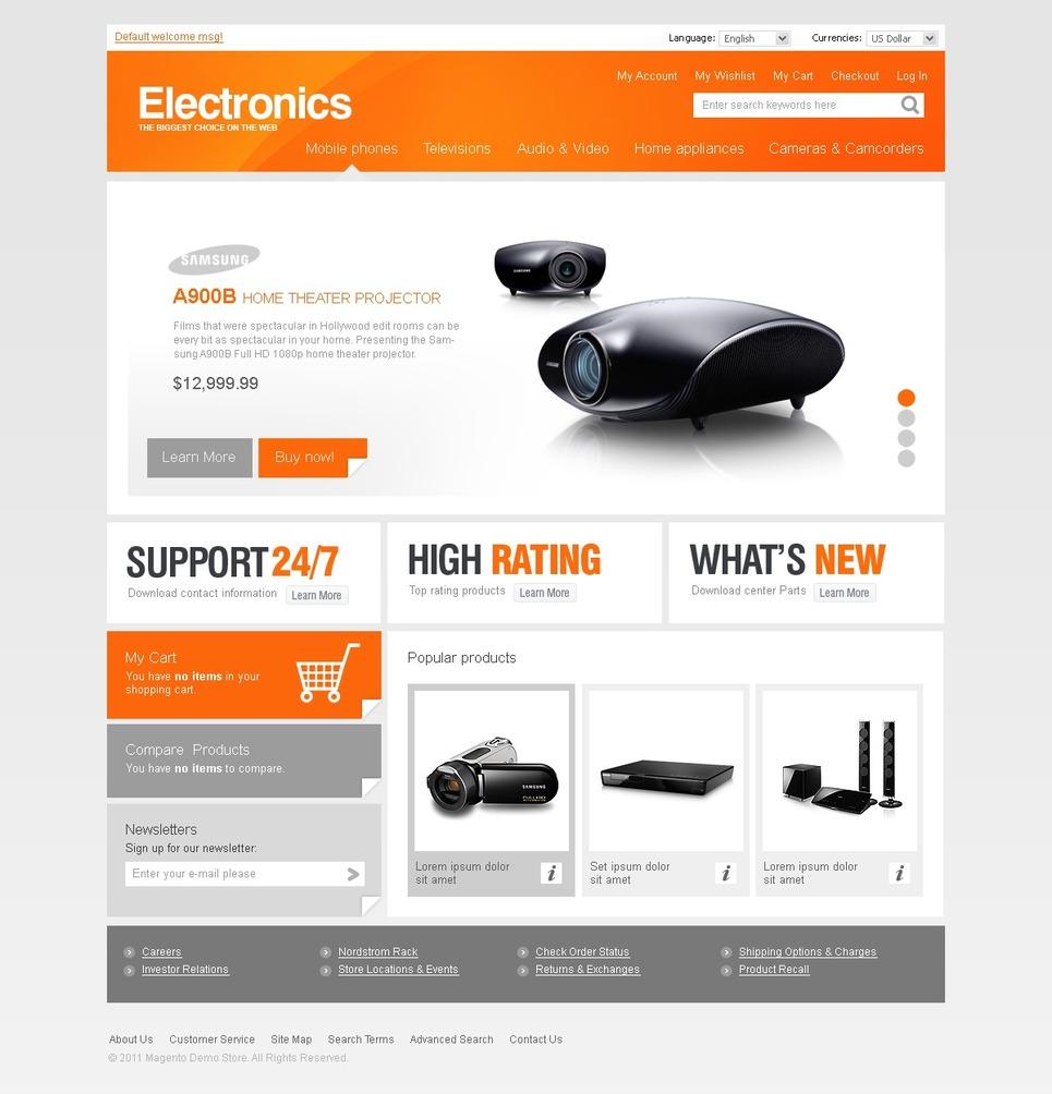 Professional Electronics Store Magento Theme