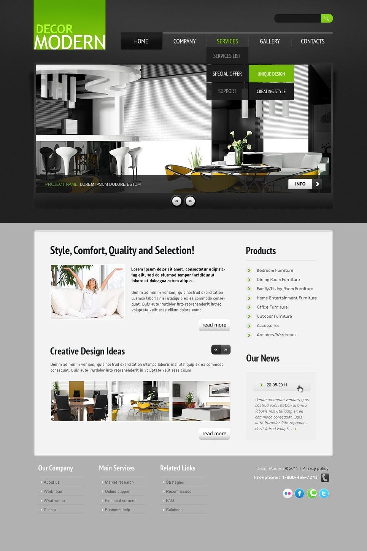 Home decor website template web design templates - Home decoration website photos ...