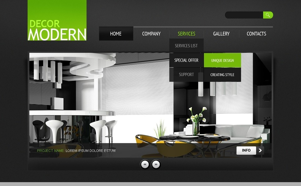 Home Decor Website Template New Screenshots BIG