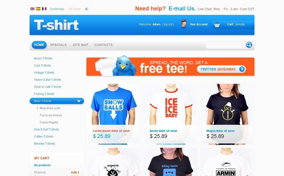 T-Shirt's Style PrestaShop Theme New Screenshots BIG