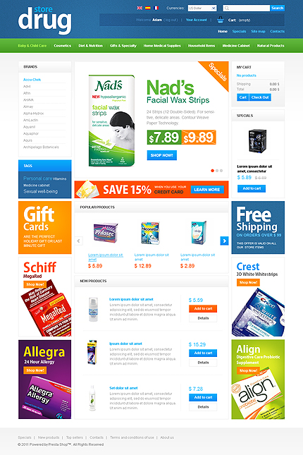 Drug Store - Hygienic Online Pharmacy Store PrestaShop Theme